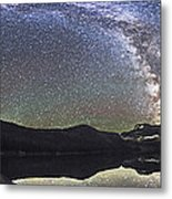 Milky Way Panorama At Cameron Lake Metal Print