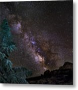 Milkyway At The Mountains Metal Print