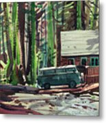 Mill Creek Camp Metal Print