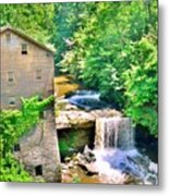 Mill Creek Park Lanterman's Mill And Covered Bridge Metal Print