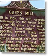Mill Description Metal Print