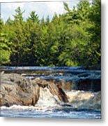 Mill Falls, Kejimkujik National Park, Nova Scotia Metal Print