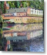 Mill Reflections Metal Print