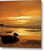 Mill Way Beach Sunset Metal Print
