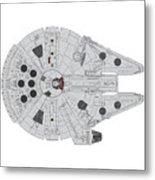 Millennium Falcon II Metal Print