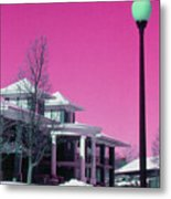 Miller Park Pavilion False Color Ir Number 1 Metal Print