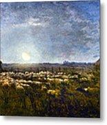 Millet: Sheep By Moonlight Metal Print