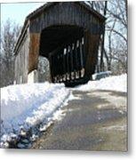 Millrace Park Old Covered Bridge - Columbus Indiana Metal Print