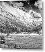 Mills Lake Monochrome Metal Print