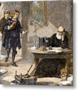 Milton And Galileo, 1638-39 Metal Print