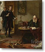 Milton Visiting Imprisoned Galileo Metal Print