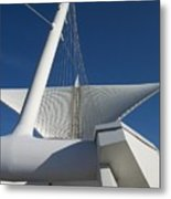 Milwaukee Art Museum Cropped Metal Print