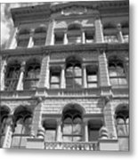 Milwaukee Cloud Reflections Bw Metal Print