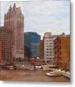 Milwaukee River View Metal Print