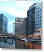 Milwaukee River Walk Metal Print