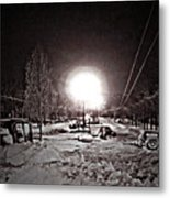 Milwaukee Street Lamp Metal Print