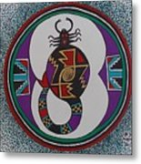 Mimbres Inspired #8a Metal Print