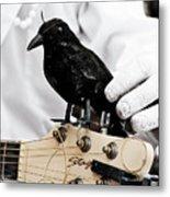 Mime's Guitar Accompanist Metal Print