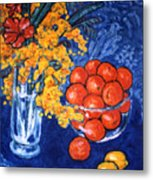 Mimosa And Tangerines Metal Print