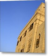 Minaret And Exterior Of The Al-hussein Mosque Metal Print