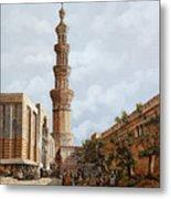Minareto E Mercato Metal Print
