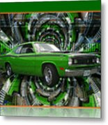 Mind Blown Duster Abstract Metal Print