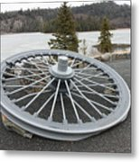 Mine Shaft Wheel Metal Print