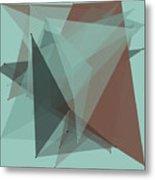 Mineral Polygon Pattern Metal Print