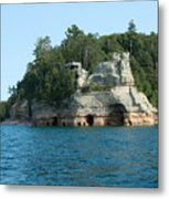 Miner's Castle On The Water Metal Print