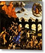 Minerva Chasing The Vices From The Garden Of Virtue 1502 Metal Print