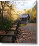 Mingus Mill Fall Color Great Smoky Mountains National Park Metal Print