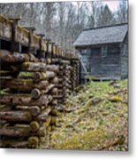 Mingus Millrace And Mill In Late Winter Metal Print