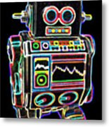 Mini D Robot Metal Print