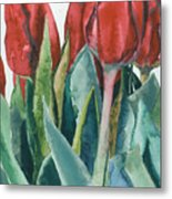 Mini-valentine Tulips - 2 Metal Print