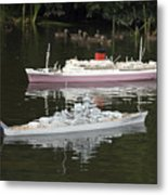 Miniature Boats Metal Print