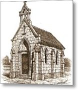 Miniature Church Of Froberville Metal Print