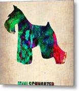 Miniature Schnauzer Poster 2 Metal Print by Naxart Studio