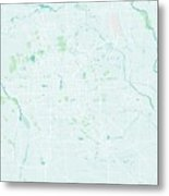 Minimalist Modern Map Of Beijing, China 3 Metal Print