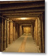 Mining Tunnel Metal Print