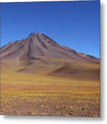 Miniques Volcano And High Altitude Desert Chile Metal Print