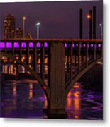 Minneapolis In Purple 4 - Wide Crop Metal Print