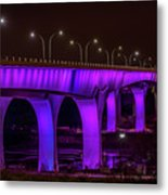 Minneapolis In Purple 6 Metal Print