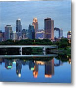 Minneapolis Reflections Metal Print