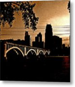Minneapolis Skyline In Copper Metal Print