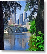 Minneapolis Through The Trees Metal Print