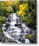 Minnihaha Falls In Autumn Metal Print