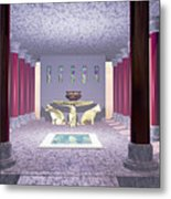 Minoan Temple Metal Print by Corey Ford