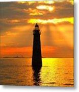 Minot's Ledge Lighthouse Metal Print by Joseph Gillette