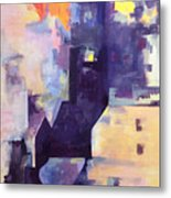 Mirage In The Concrete City Metal Print
