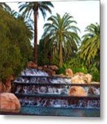 Mirage Waterfall Metal Print